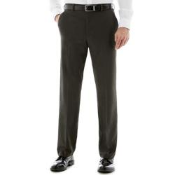 Van Heusen - Flat-Front Chevron Dress Pants