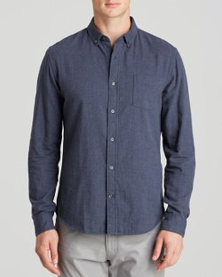 Vince  - Double Weave Button Down Shirt