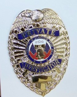 Blackinton - Private Investigator Shield Badge Gold