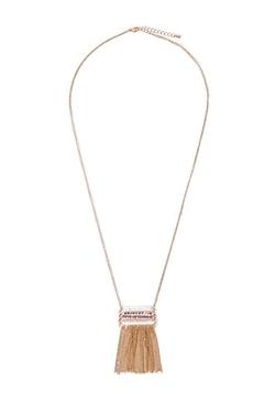 Forever 21 - Beaded Fringe Necklace