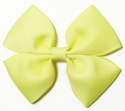 Dress Up Dreams Boutique - Yellow Pinwheel Hair Bow Clip