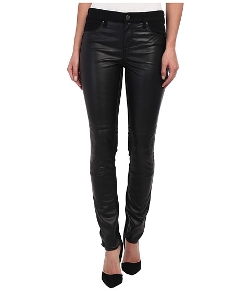 DKNY Jeans - Faux Leather Front Ave B Ultra Skinny Jeans