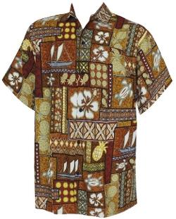 La Leela - Tropical Printed Aloha Beach Hawaiian Shirt