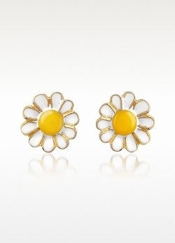 AZ Collection - Garden Line - Daisy Enamel Earrings