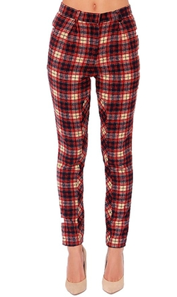 Miaokalin - Retro Plaid Pants