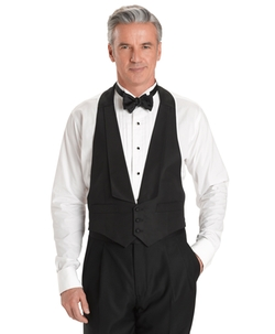 Brooks Brothers - Silk Barathea Backless Tuxedo Vest