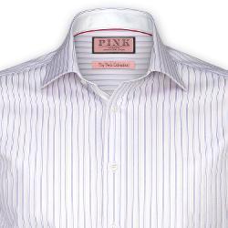 THOMAS PINK - Neway Stripe Shirt - Button Cuff
