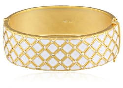 Freida Rothman  - Lattice Enamel Bangle Bracelet