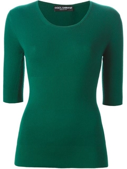 Dolce & Gabbana - Ribbed Fitted Top