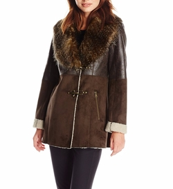 Jessica Simpson - Faux Shearling Coat