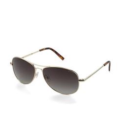 Polaroid - Small Aviator Polarized Sunglasses
