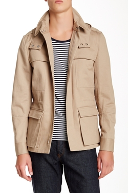 Sandro - Sand Long Sleeve Coat