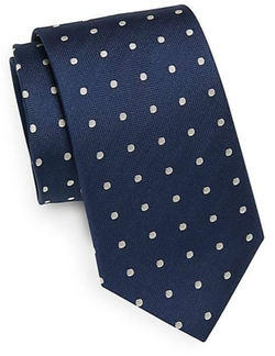 Saks Fifth Avenue  - Dotted Silk Tie
