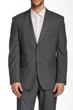 Perry Ellis  - Sharkskin Two Button Notch Lapel Slim Fit Jacket