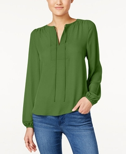 Hippie Rose - Split-Neck Peasant Top