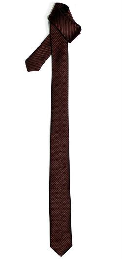 Retreez  - Skinny Tie Necktie with Stripe Textured