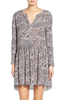 Hinge - Floral Print Swing Dress