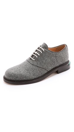 Band of Outsiders  - Felted Wool Oxford Shoes