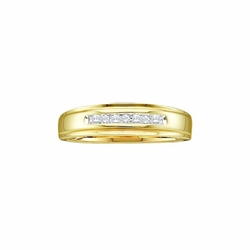 RNYJ - Round Diamond Wedding Band Ring
