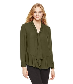 Vince Camuto - Tie Neck Ruffle Blouse