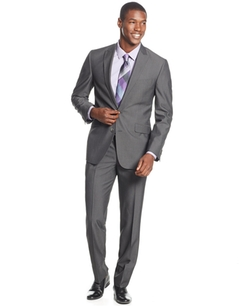 Kenneth Cole Reaction  - Charcoal Slim-Fit Suit