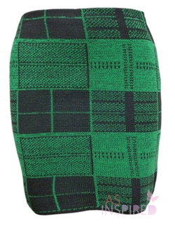 Forever - Womens Tartan Snow Flake Printed Mini Skirt