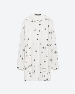 Zara - Long Printed Shirt
