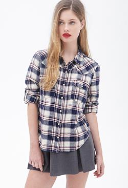Forever21 - Plaid Western Shirt