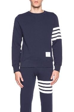 Thom Browne - Crew Neck Cotton Sweatshirt