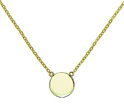 Glitter Lounge  - Simple Disk Round Pendant Necklace