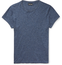 Tom Ford - Marled Cotton-Jersey T-Shirt