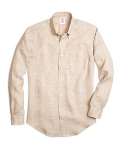 Brooks Brothers - Madison Fit Linen Sport Shirt