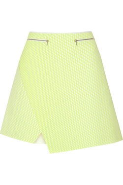 Dion Lee - Printed Neon Neoprene Mini Skirt