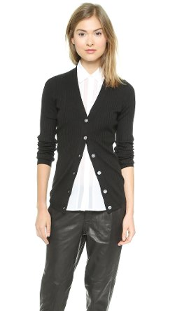 Vince  - Ribbed Skinny Cardigan