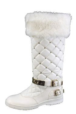 Michael Kors - Winter Tall Boot Optic Quilted Buckle Shoes