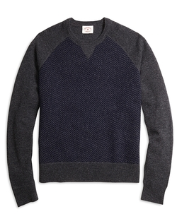 Brooks Brothers - Herringbone Crewneck Sweater