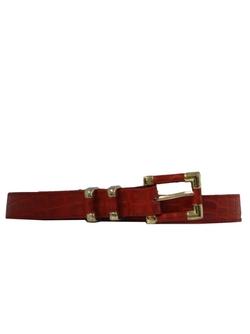 Rusty Zipper - Leather Belt