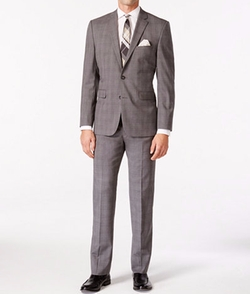 Vince Camuto - Windowpane Slim Fit Suit