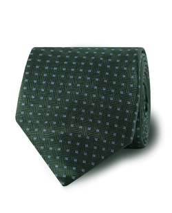 Tm Lewin - Green Blue Squares Silk Tie