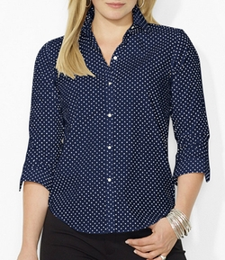 Lauren Ralph Lauren - Polka-Dot Dress Shirt