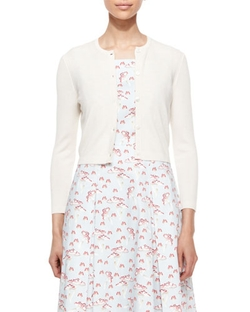 Carolina Herrera - Cashmere-Silk Button Cardigan