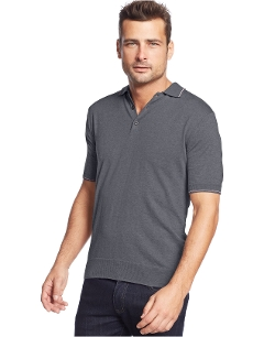 Club Room - Short-Sleeve Tipped Sweater Polo