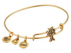 Alex And Ani  - Armenian Cross Slider Expandable Wire Bangle