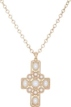 Kenneth Jay Lane - Oversize Cross Pendant Necklace