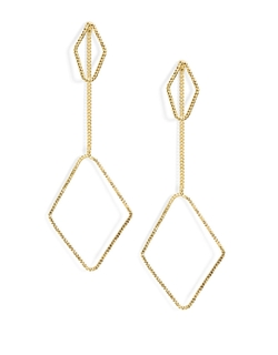Robert Rose - Openwork Diamond Drop Earrings