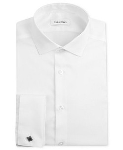 Calvin Klein - Slim-Fit Texture French Cuff Shirt