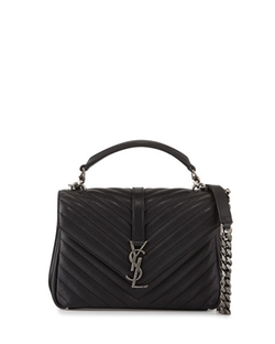 Saint Laurent  - Monogram College Medium Chain Satchel Bag