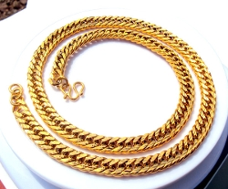 Dhgate.com - Gold Men uban Link Curb Chain Necklace