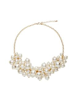 The Limited - Faux Pearl Cluster Necklace