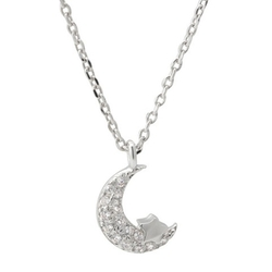Target - Pave Set Moon and Star Pendant Necklace